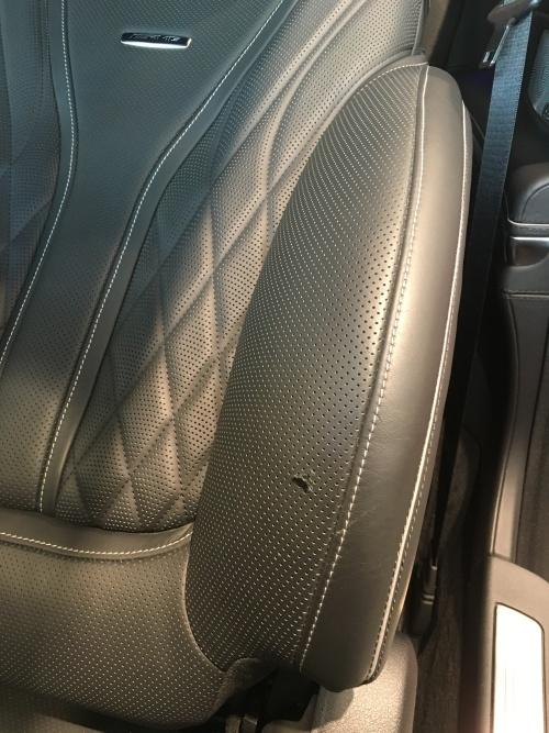 メルセデス AMG S63 パンチングレザーシート破れ補修|東京 江東区