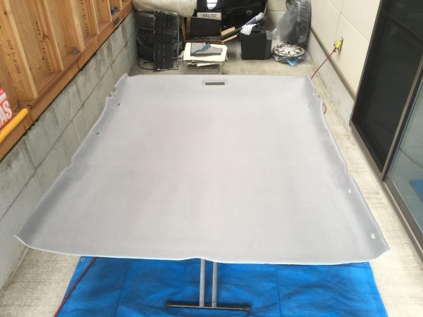 ベンツE320 w124 天井 剥がれ 垂れ 張替え|東京 世田谷区