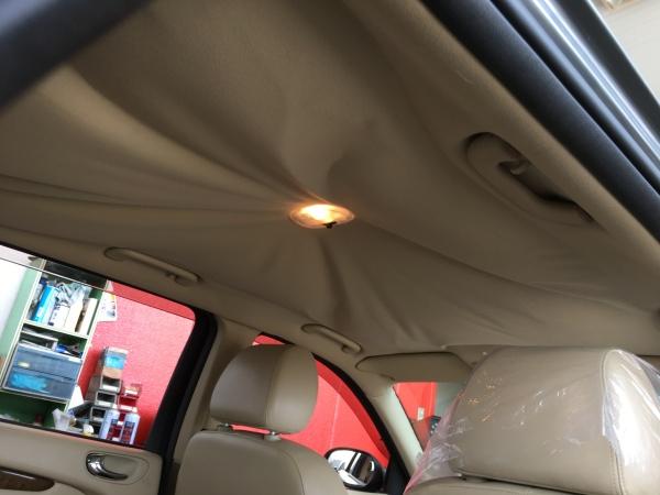 ジャガーSタイプ エステート 天井 剥がれ 垂れ 張替え|東京 杉並区