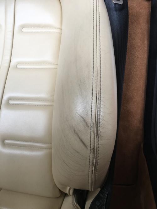 フェラーリ575Mマラネロ レザーシート 擦れ補修|東京 世田谷区
