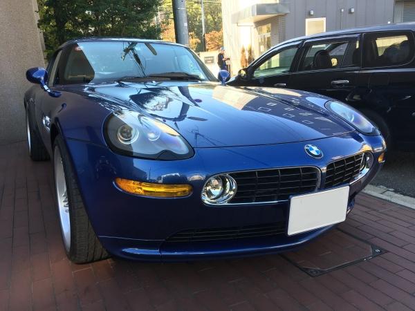BMW アルピナロードスターV8 レザーシート擦れ補修|東京 世田谷区