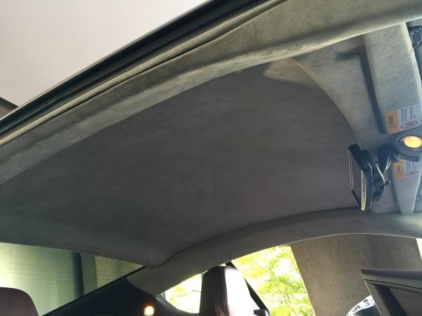 アストンマーティンDB9 天井 剥がれ 張り直し|東京 世田谷区