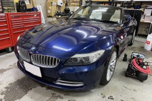 BMW Z4 ダッシュボード ナビ台座痕 補修|東京 目黒区