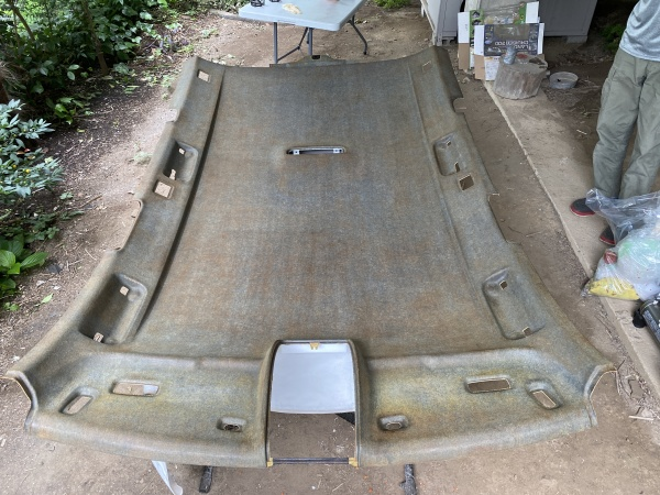 アウディA6 アバント 天井 剥がれ 垂れ 張替え|東京 新宿区