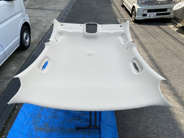 ジャガーSタイプ 天井 垂れ 剥がれ 修理 張替え|東京 新宿区