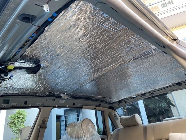 ダイムラー スーパーV8 天井 剥がれ 垂れ 張替え 断熱材|東京 世田谷区